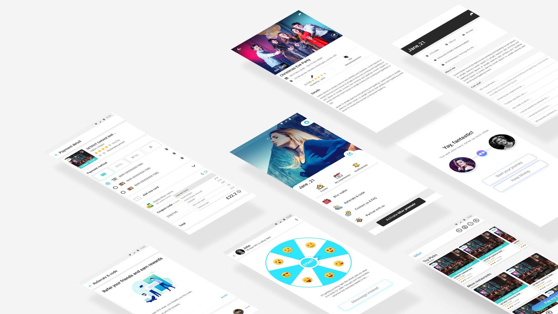 Blixr All Screen Design
