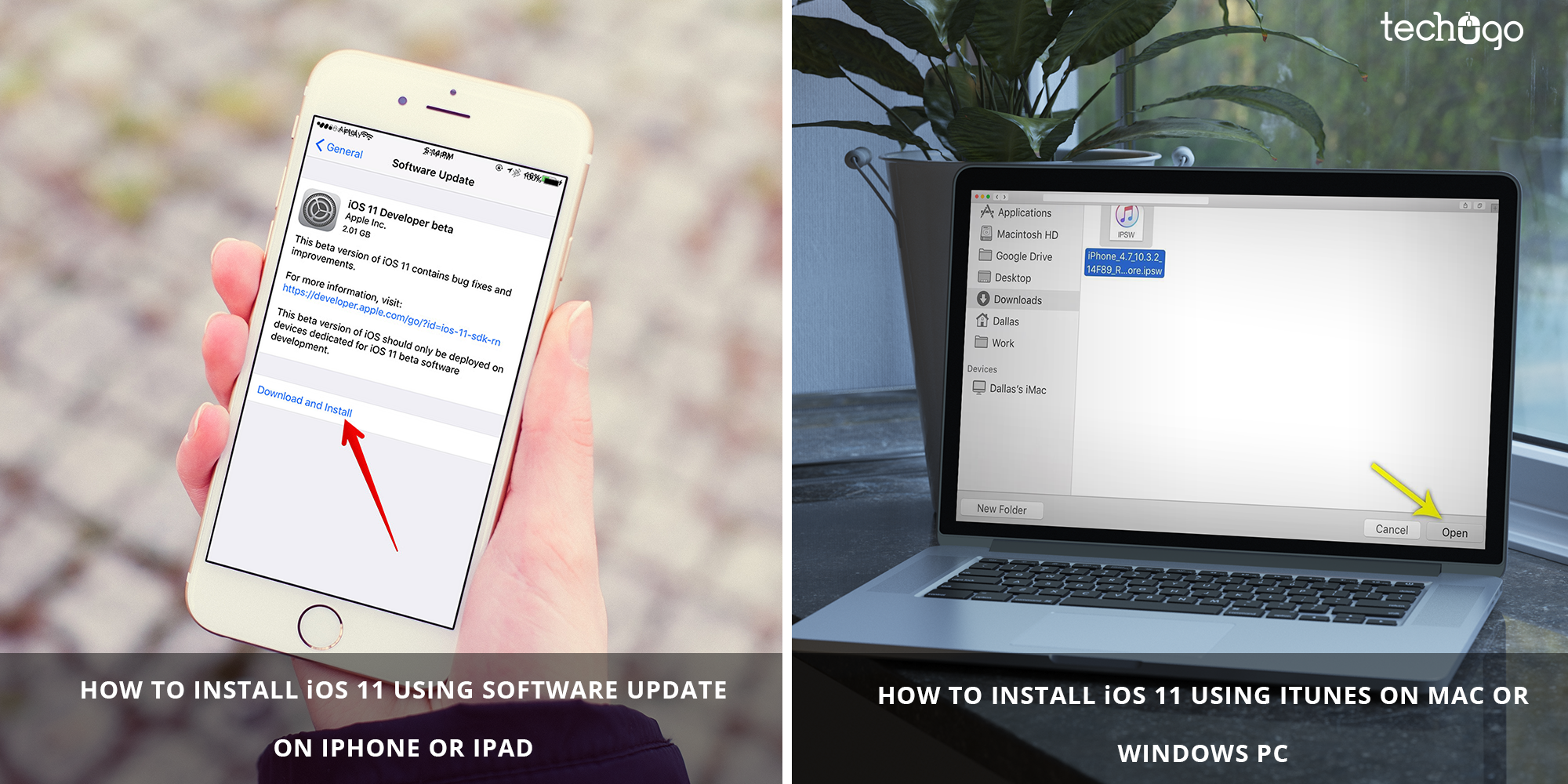HOW TO INSTALL iOS 11 ON YOUR iPhone /iPad