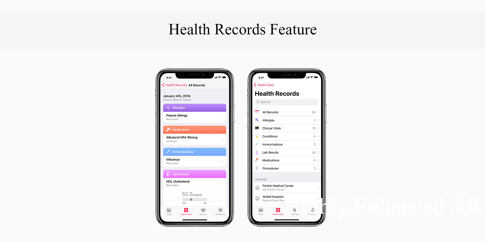 Health Records Feature