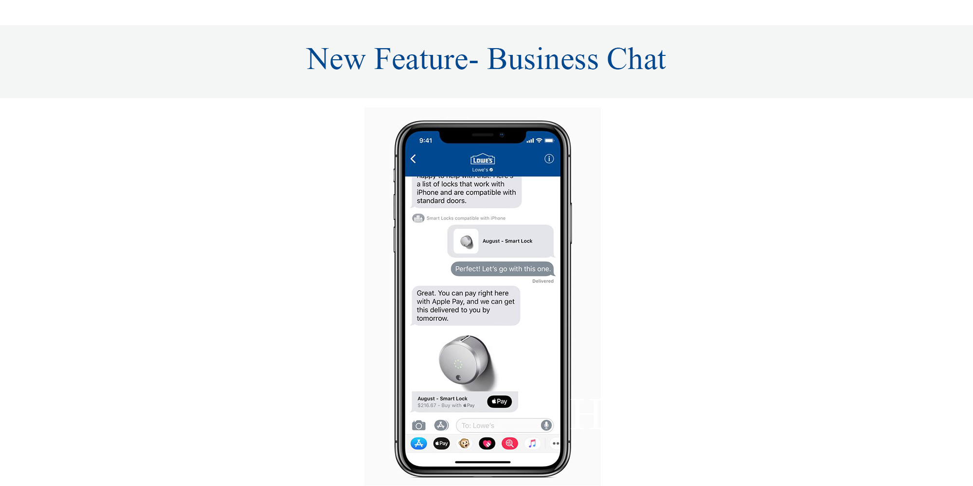 New Feature- Business Chat