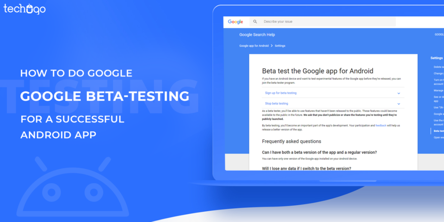 how to do google beta testing for a successful android app
