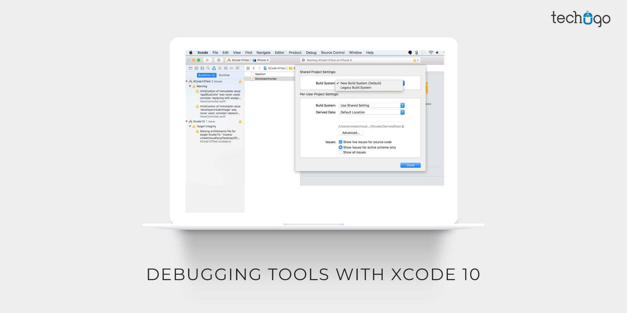Debugging Tools With Xcode 10