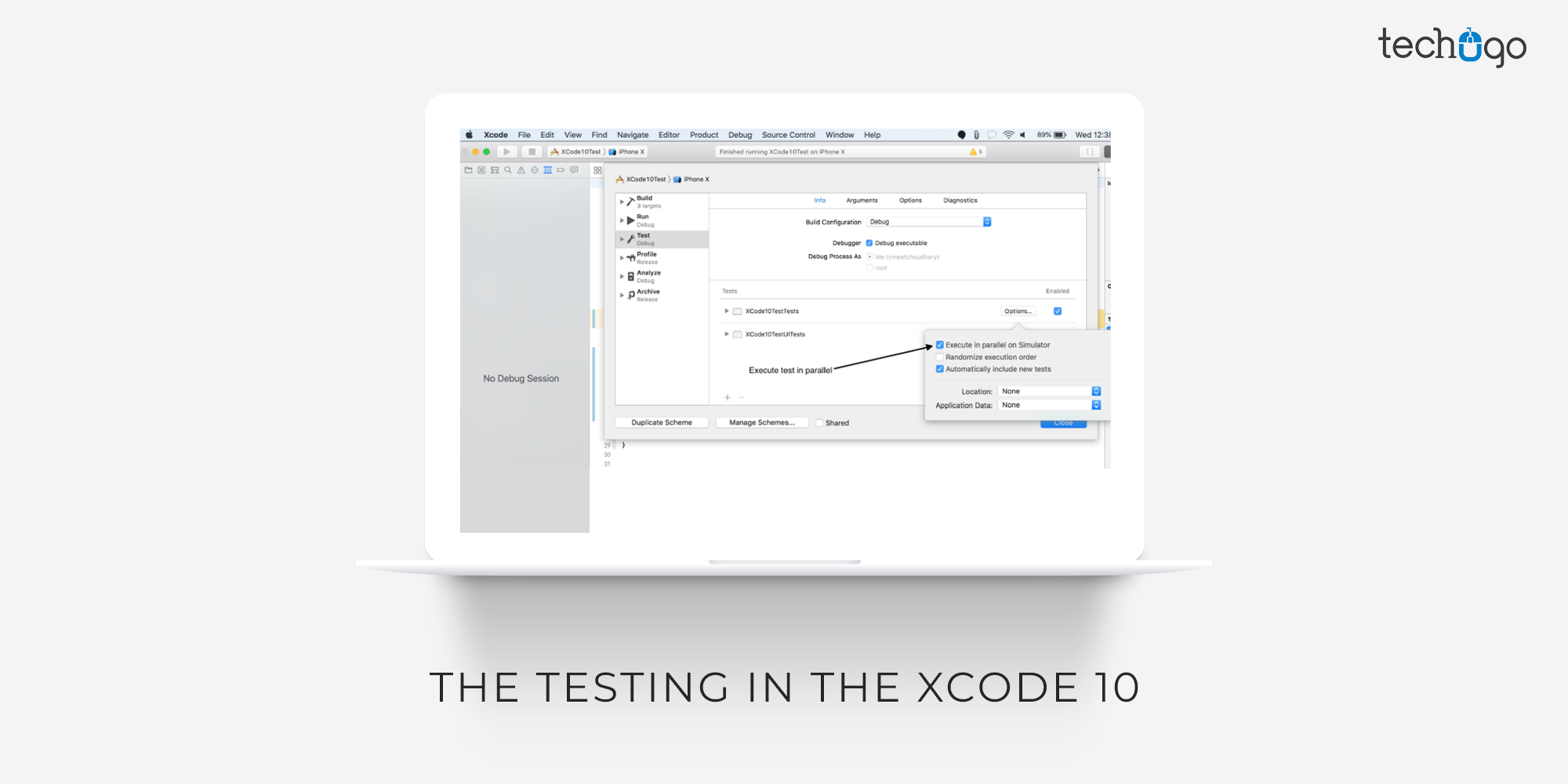 The Testing In The Xcode 10